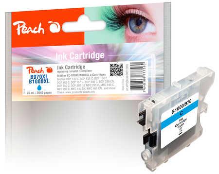 Brother LC-1000c, LC-970c XL inkoustová náplň azur s čipem