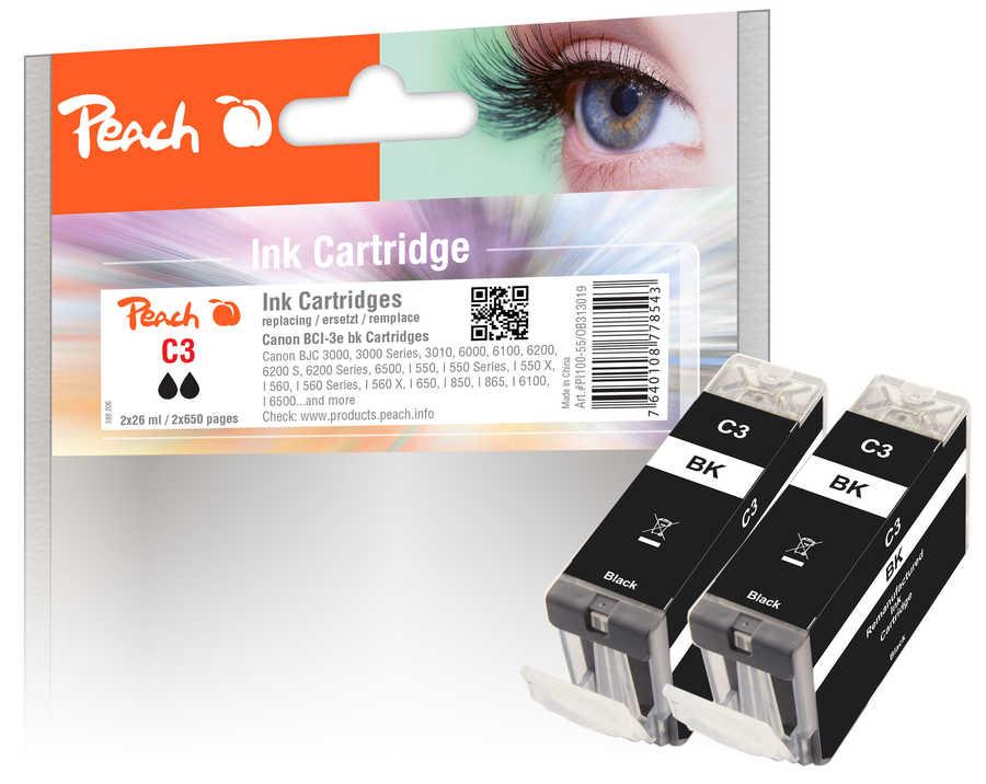 Canon BCI-3e bk inkoustová náplň černá dvojbalení