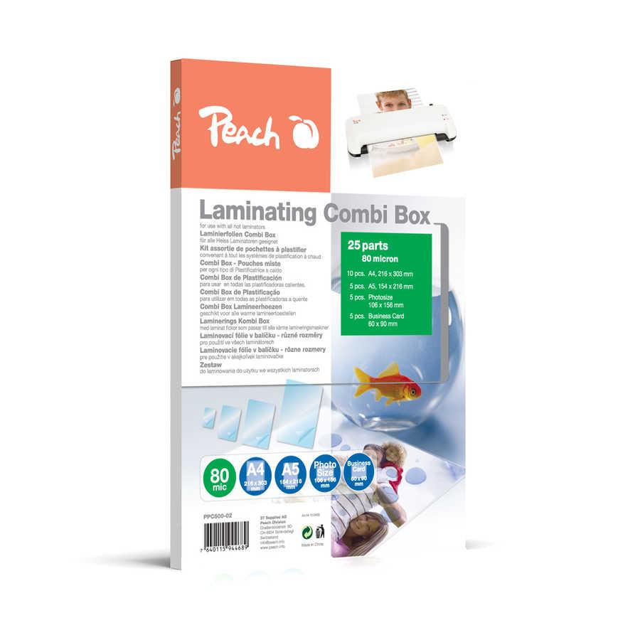 Laminovací kombi balení Peach, 25 různých laminovacích fólií