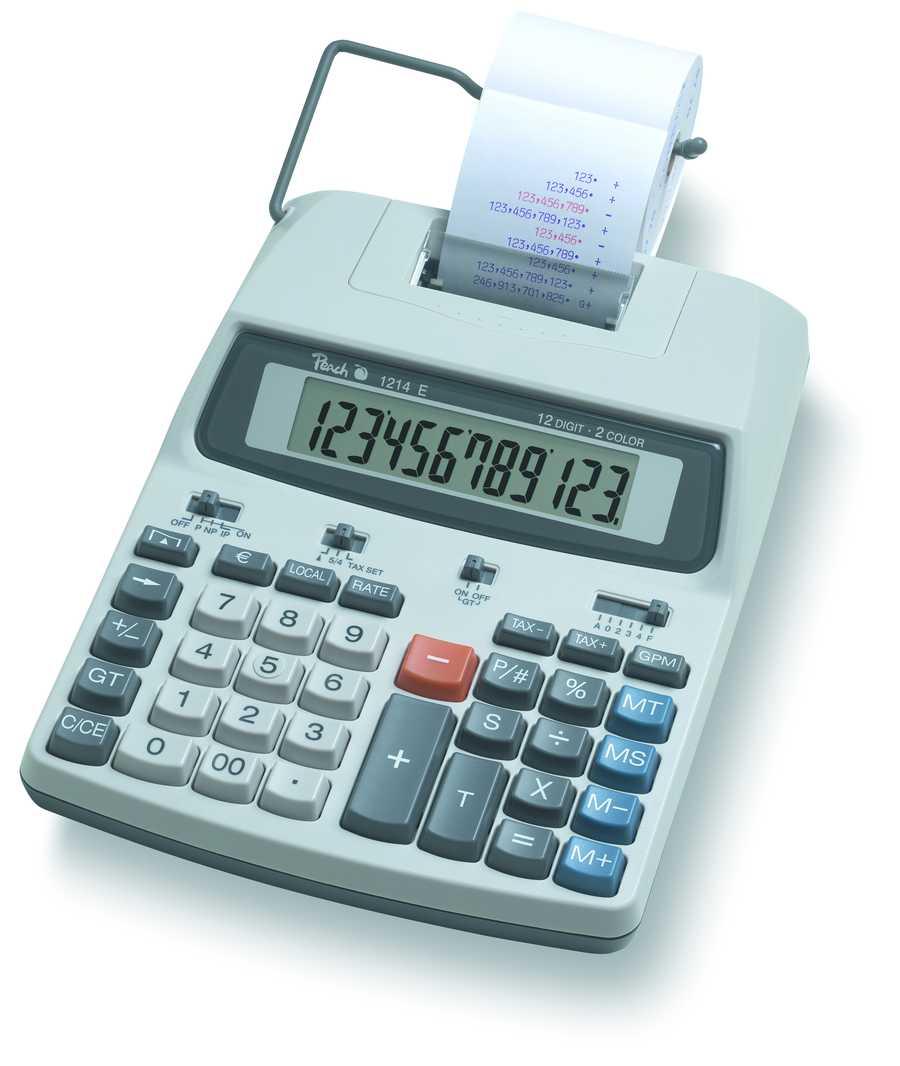 Kalkulačka Peach 12místná PR670, síťový adaptér nebo baterie