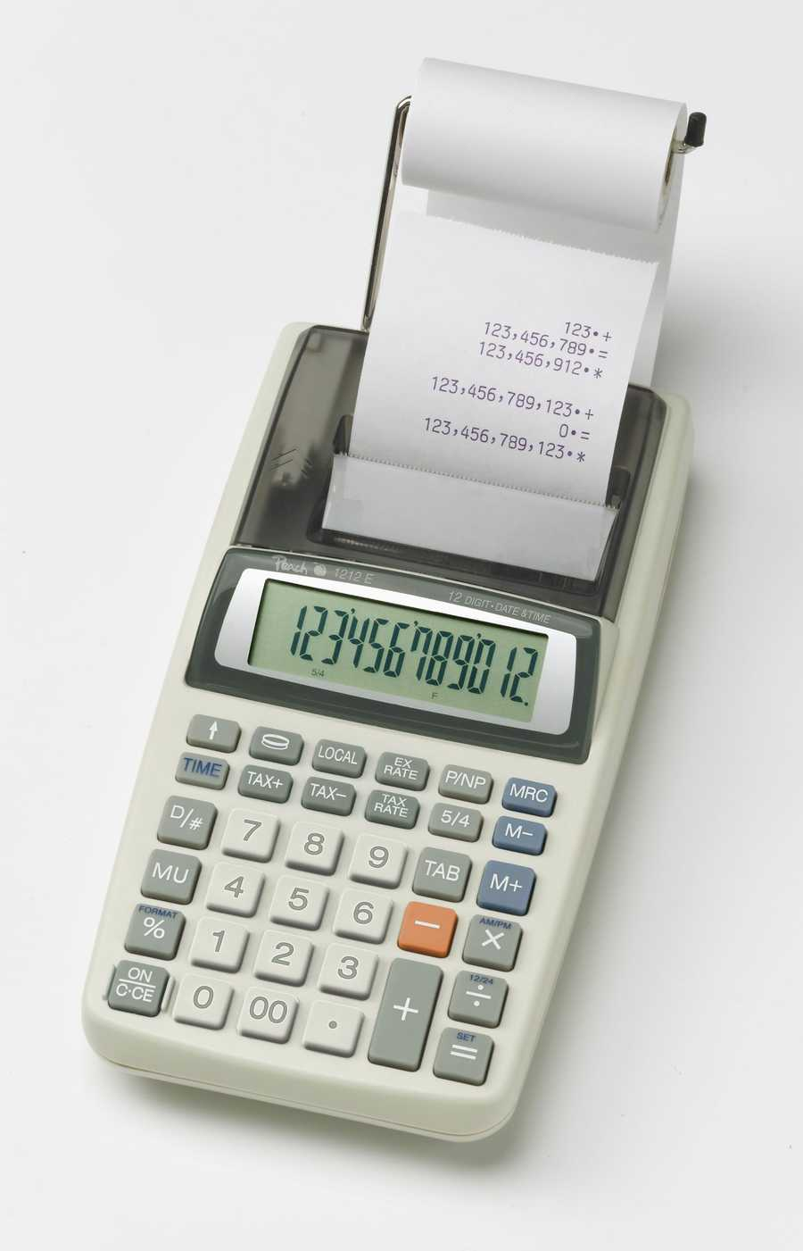 Kalkulačka Peach 12místná PR680, AC adaptér nebo baterie