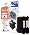 313339 - Peach Twin Pack black, compatible with T0711H, C13T07114H10 Epson
