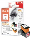 314128 - 1 Peach Print-head, 1 Snap-in Ink Cartridge black, compatible with PG-40 Canon