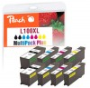 Peach Multi Pack with chip, compatible with  Lexmark No. 100XLBK*2/C/M/Y, 14N1092-95