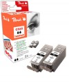318858 - Peach Twin Pack Ink Cartridge black, compatible with PGI-525 Canon